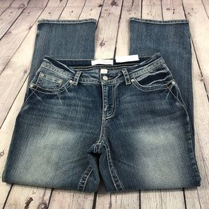 NWT Est 1946 Denim Embroidered Bling Boot Jeans 12